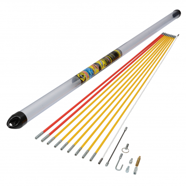 CK Tools T5421 MightyRod Pro Cable Rod Standard Set 10M 10 Metre